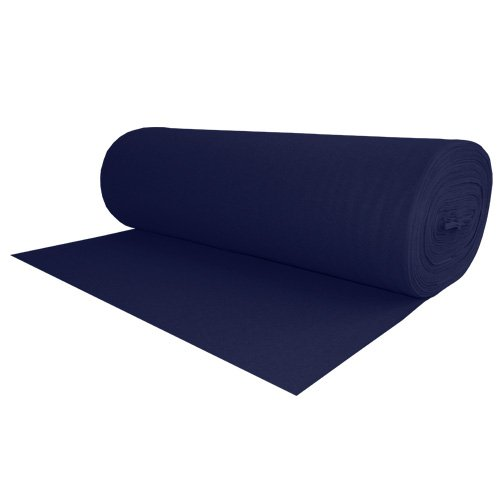 100% Wool Felt Midnight Blue 1.2 MM Thick X 72 Inches Wide X 2 Yards Long by The Felt Store