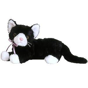 Amazon Com Ty Beanie Babies Booties Black Amp White Cat