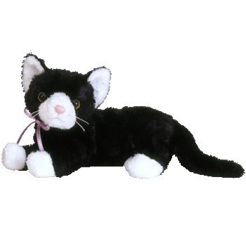 Amazon Com Ty Beanie Babies Booties Black White Cat Toys Games