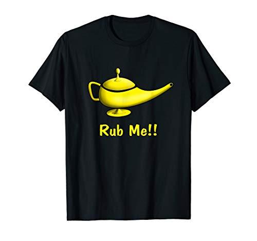 Genie Lamp Rub Me T-Shirt   Naughty and Funny Genie -