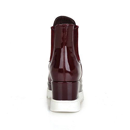Platform Travel Ankle Boots Closure 1TO9 MNS01997 Boots Toe Closed Waterproof Urethane Wrap Cushioning Claret No Womens HzYYqxPSan