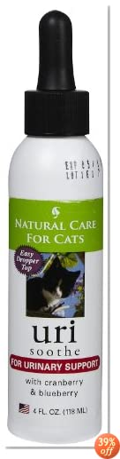 Natural Care For Cats; URI Soothe For Urinary Support with Cranberry and blueberry; 4 Fl oz.