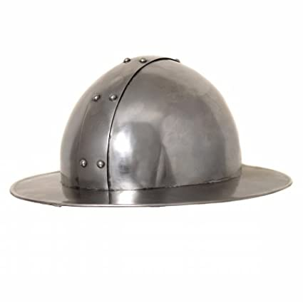 NauticalMart Antique Replica Medieval Infantry Steel Kettle Hat Helmet
