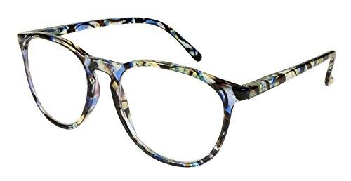 Edge I-Wear Oval Flower Pattern Frame Vintage Round Reading Glasses for Women Readers Spring Hinge 2.75 - Vintage Pattern Glass