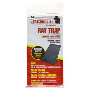 Catchmaster 48R Rat Glue Trays With Hercules Putty (2 Per Pack, 24 Packs Per Case), Listing Is For One Pack