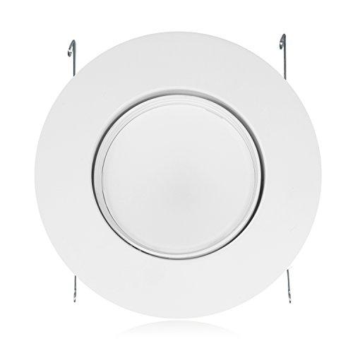 "11 Watt 6""-Inch Rotatable 950 Lumens Maxxima LED Retrofit Downlight Gimbal Warm White 2700k Dimmable, Energy Star"