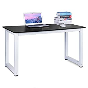 DOSLEEPS Computer Desk, 110x50x75cm Office Study Desk Computer PC Laptop Table Workstation Dining Gaming Table for Home…