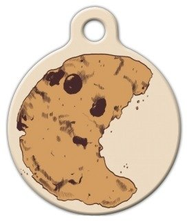 C is for Cookie Pet ID Tag for Dogs and Cats - Dog Tag Art - LARGE SIZE (Cookies Printed Custom)