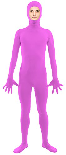 VSVO Adult Light Purple Open Face Full Body Zentai Supersuit Costumes (X-Large, Light Purple) (Purple Morphsuit)