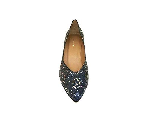 Leder Geschlossene Zehe 6 mit ISORBO Damen Schuhe cm Gennia Absatz gw7qp8Ex