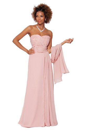 SEXYHER Gorgeous Encuadre de cuerpo entero sin tirantes de las damas de honor vestido de noche formal - EDJ1563 Lightduskypink