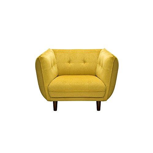Diamond Sofa Home Furniture Venice Button Tuft Fabric Chair Yellow