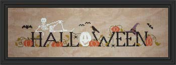 Halloween Cross Stitch Chart and Free Embellishment -