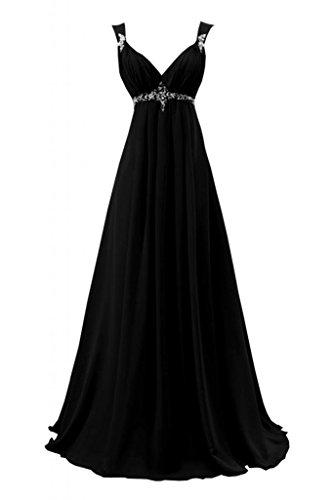 lungo Abito Gowns da da scollo V a Sexy Sunvary con abiti sera Nero Pageant wx6qFnWYC1