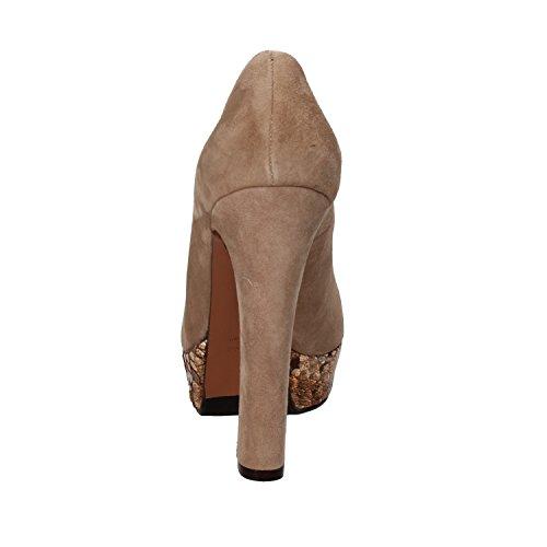 GIANNI MARRA Zapatos de Salón Mujer Beige Gamuza (40 EU)