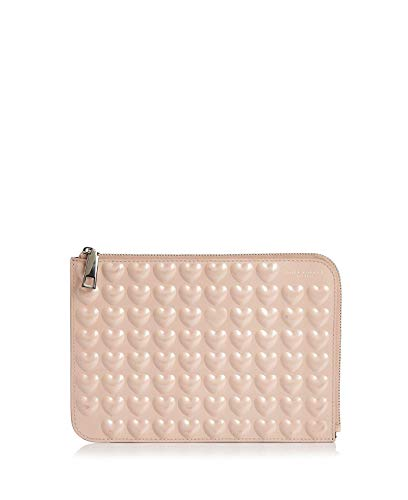 - Marc Jacobs Embossed Heart Pouch (Medium, Seashell Peach)