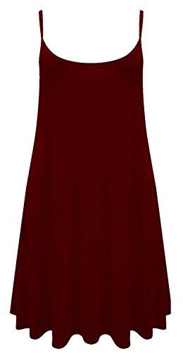 Camiseta o mini vestido sin mangas para mujer, tallas de la 36 a la 54 Wine
