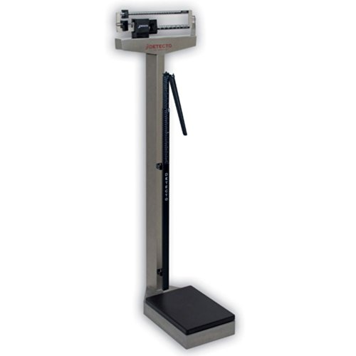 Detecto 439S Stainless Steel Eye Level Physician Scale with Height Rod
