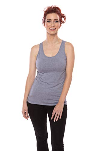 Women's Moisture Wicking Tank Top - Classic Layering Tops by Texere (Mesatee, Heather Atlantic, Large) Stocking Stuffer X-Mas Gift Idea for Girl Junior Teen TX-WB116-002-21U2-R-L