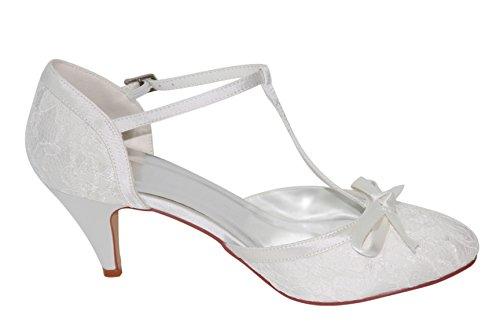 hamburg Women's Beige Brautschuhe hochzeits Shoes shop Court Zq7RqwU0