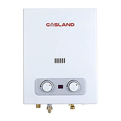 Gasland AS150 1.5GPM 6L Portable Propane Tankless Gas Water Heater Outdoor RV Camping