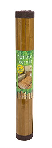 Natural Bamboo Step Mat – Durable Construction – Non-Slip Bottom – Made From Sustainable Materials – 34 Inches Long x 21 Inches Wide