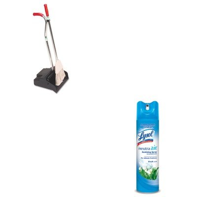 KITRAC76938EAUNGEDPBR - Value Kit - Ergo Dustpan/Broom, 12quot; Wide (UNGEDPBR) and Neutra Air Fresh Scent (RAC76938EA)