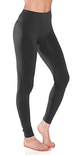 Sofra Womens Seamless Leggings Charcoal