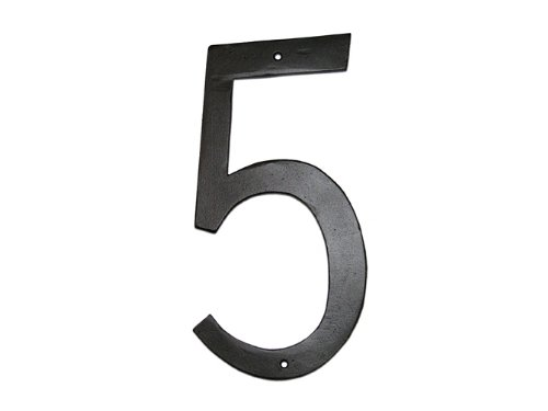 Montague Metal Products Standard Font Individual House Number, 5, 4-Inch