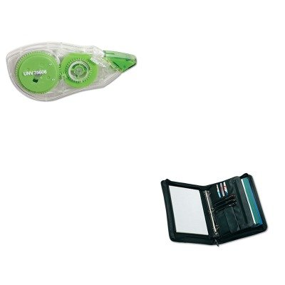 KITUNV25650UNV75606 - Value Kit - Universal Zip-Around Padfolio (UNV25650) and Universal Correction Tape with Two-Way Dispenser (UNV75606)