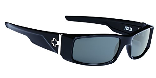 Spy Optic Hielo 670375038863 Rectangular Sunglasses, Black,Happy Gray & Green, 56 - Spy Hielo Sunglasses