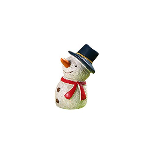 (Pausseo Resin Miniature Christmas Ornament Animals DIY Craft Accessory Set Xmas Festival Party Xmas Tree Wedding Santa Claus Snowman Art Decoration Garden House Home Decor Children Gift Toy Doll (H))