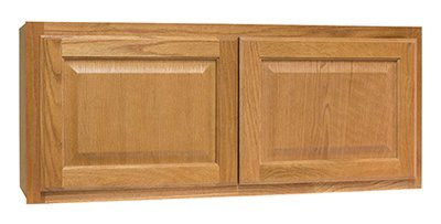 CONTINENTAL CABINETS KITCHEN CABINETS 2478238 Rsi Home Products Hamilton Kitchen Wall Bridge Cabinet, Fully Assembled, Raised Panel, Oak, 36X15X12