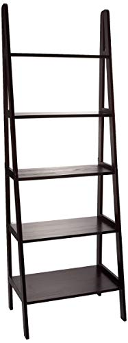 -Shelf Ladder Bookcase, Espresso ()