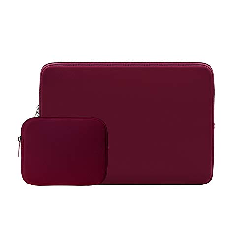 RAINYEAR 15.6 Inch Laptop Sleeve Protective Case Soft Carrying Zipper Bag Cover with Accessories Pouch, Compatible with 15.6