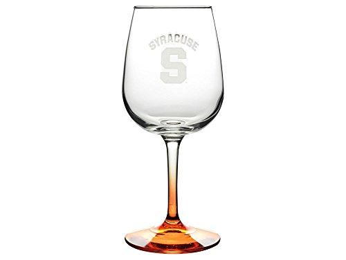 Boelter Brands Syracuse Orange Satin Etch Wine Glass