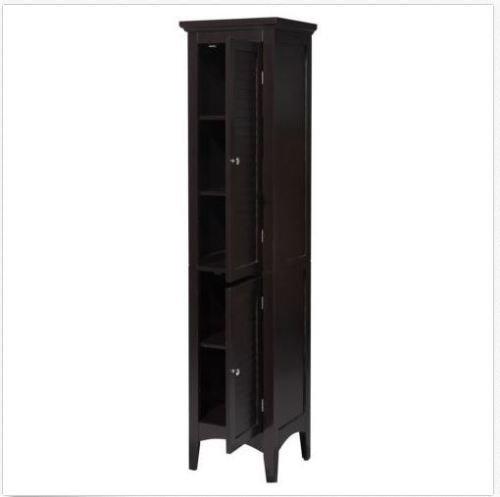 Moon Daughter Tall Linen Tower Cabinet Organizer Storage Shelves Doors Bathroom Salon Wood NEW by Moon_Daughter