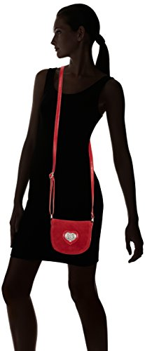 Lady Edelweiss Trachtentasche - Bolso de hombro de piel sintética mujer rojo - rojo (rojo)