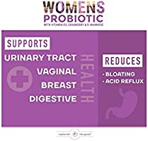 Amazon Com Womens Probiotic 60ct 6 Billion Cfu With Cranberry D Mannose Vitamin D3 Best Probiotics For Women Delivers 15x More Good Bacteria Yeast Urinary Tract Infection Uti Treatment 30 Day Supply Health