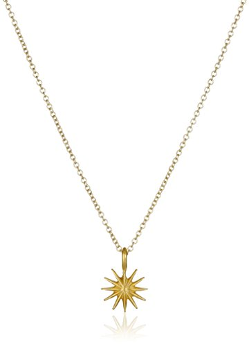 Dogeared Reminders Accomplish Magnificient Things Gold Dipped Sterling Silver Starburst Charm Necklace, 16''+2'' Extender by Dogeared (Image #2)