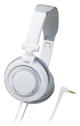 Headphones White Portable Wh (Audio Technica ATH-SJ55 WH White| Portable Headphones (Japan Import))