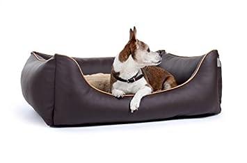 Cama para perros Perros Camilla Perros sofá piel sintética en 12 colores S - XL visco Espuma: Amazon.es: Productos para mascotas