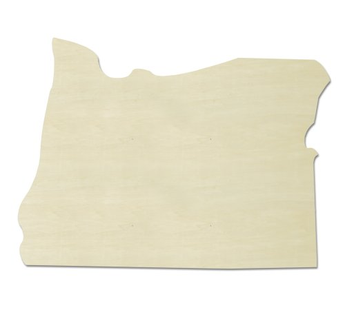 UNFINISHEDWOODCO Unfinished State Wood Cutouts, - Oregon Wood