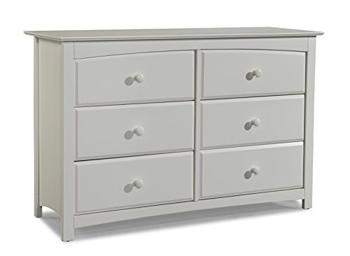 Stork Craft Kenton 6 Drawer Universal Dresser, White by Stork Craft