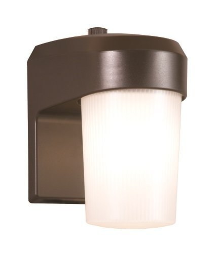 All-Pro FE13PC 13W Fluorescent Entry Light With Photo Control, Bronze