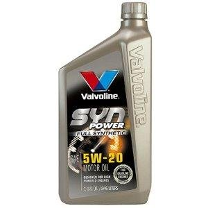 Valvoline SynPower Synthetic Motor Oil, 5W-20, Case of 6 (927-C)