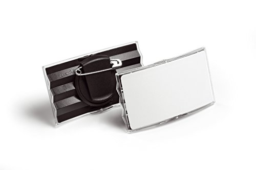 Durable Combi Clip Badge - DURABLE CONVEX NAME BADGE COMBI CLIP P25