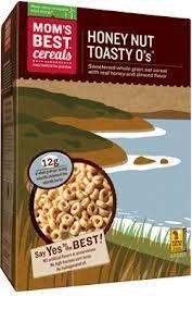Mom's Best Honey Nut Toasty O's - 13.5 oz (Pack of 4)