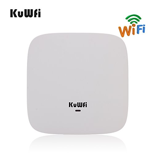 KuWFi Ceiling Mount Wireless Access Point, Dual Band Wireless Wi-Fi AP Router with 24V POE Long Range Wall Mount Ceiling Router Supply a Stable Wireless Coverage by KuWFi (Image #4)