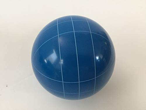 Replacement Bocce Ball - 107mm - Blue with Straight line Pattern